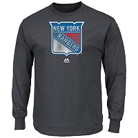 Men's Majestic New York Rangers Raise the Level Long-Sleeve Tee