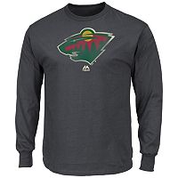 Men's Majestic Minnesota Wild Raise the Level Long-Sleeve Tee