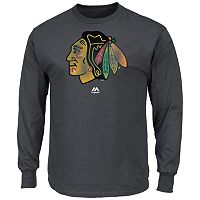 Men's Majestic Chicago Blackhawks Raise the Level Long-Sleeve Tee