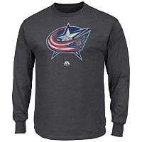 Men's Majestic Columbus Blue Jackets Raise the Level Long-Sleeve Tee