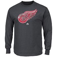Men's Majestic Detroit Red Wings Raise the Level Long-Sleeve Tee