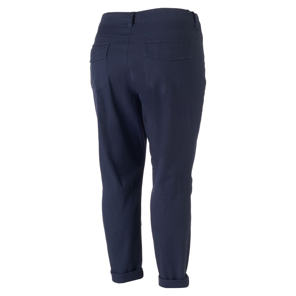 Juniors' Plus Size Unionbay Midori Twill Ankle Pants
