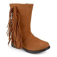 Journee Luzie Girls' Fringed Boots