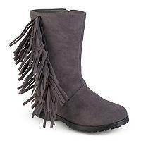 Journee Luzie Girls' Fringed Boots