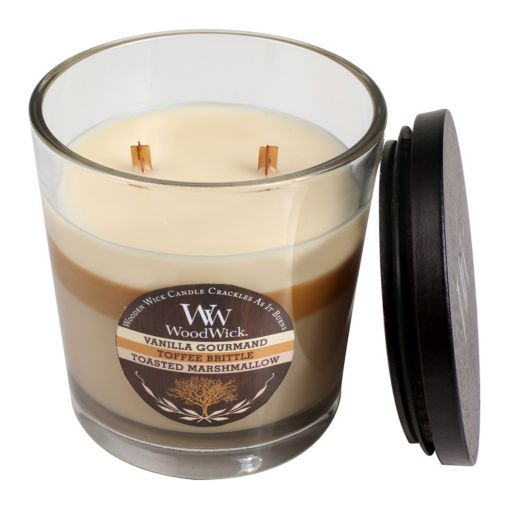 WoodWick Tri-Pour Vanilla Gourmand, Toffee Brittle & Toasted Marshmallow 17.2-oz. Jar Candle