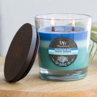 WoodWick Tri-Pour Saltwater Mist, Tropic Garden & Paradise Shores 17.2-oz. Jar Candle