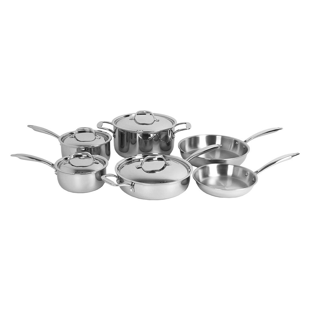 Oneida 10-pc. Tri-Ply Stainless Steel Cookware Set