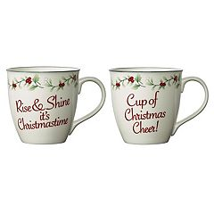 Pfaltzgraff Winterberry 2-pc. Christmas Mug Set