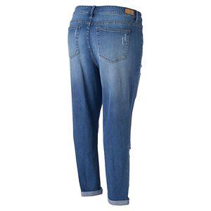 Juniors' Plus Size Unionbay Marni Ripped Skinny Jeans