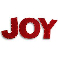 National Tree Company Red Christmas Joy Sign