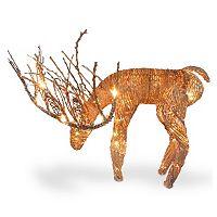 National Tree Company Drinking Reindeer Christmas Table Decor