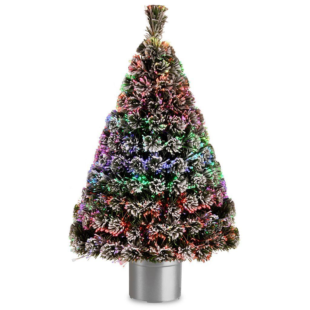 National Tree Company 48-in. Fiber Optic Evergreen Artificial Christmas Tree