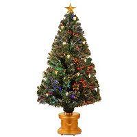 National Tree Company 4-ft. Fiber-Optic Artificial Christmas Tree with Ornaments Floor Decor