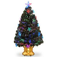 National Tree Company 3-ft. Fiber-Optic Star Ornaments Artificial Christmas Tree Floor Decor