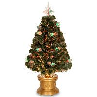 National Tree Company 36-in. Double Bells Fiber Optic Artificial Fireworks Christmas Tree
