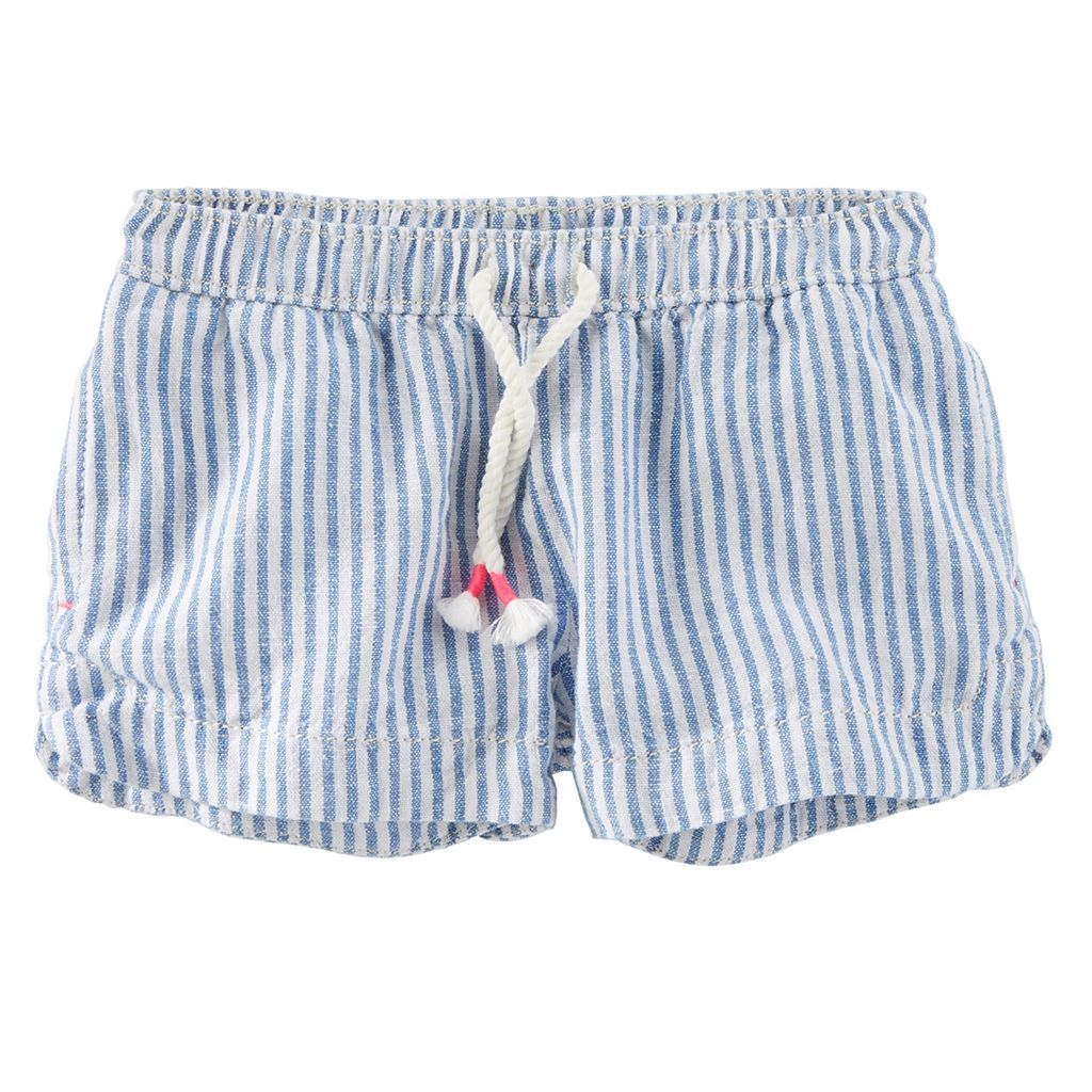 Toddler Girl OshKosh B'gosh® Striped Linen-Blend Shorts