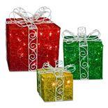 National Tree Company Pre-Lit Twinkle Lights Gift Christmas Decor 3-piece Set