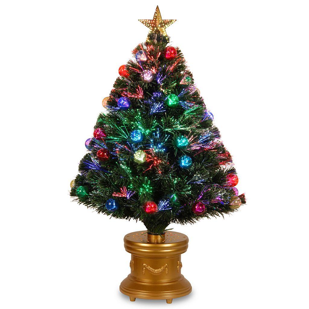 National Tree Company 3-ft. Fiber-Optic Artificial Christmas Tree with Ornaments Floor Decor