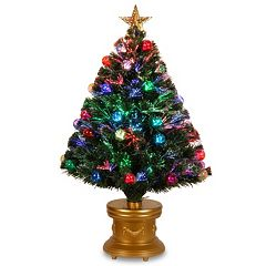 National Tree Company 3-ft. Fiber-Optic Artificial Christmas Tree with Ornaments Floor Decor