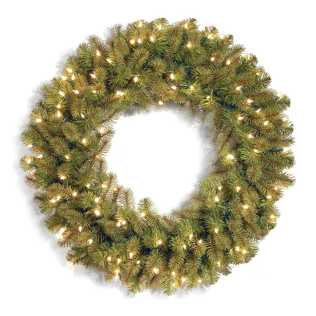 National Tree Company 36-in. Pre-Lit Douglas Fir Artificial Christmas Wreath