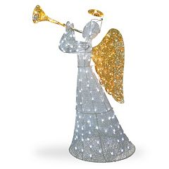 National Tree Company 60-in. Pre-Lit Sisal Angel Christmas Decor