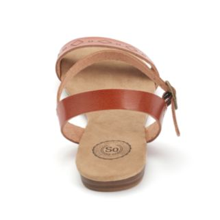 SO® Women's Ankle Strap Sandals