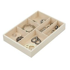 Home Basics 6 Compartment Jewelry Organizer