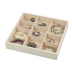 Home Basics 9 Compartment Jewelry Organizer