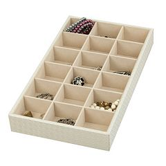 Home Basics 18 Compartment Jewelry Organizer