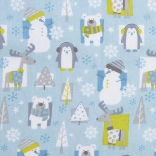 Trend Lab Snow Pals Flannel Fitted Crib Sheet