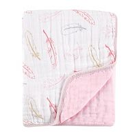 Hudson Baby Feather Print Muslin Blanket