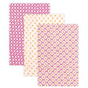 Hudson Baby 3-pk. Pink Muslin Swaddle Blankets
