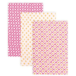 Hudson Baby 3-pk. Pink Muslin Swaddle Blankets
