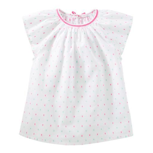 Toddler Girl OshKosh B'gosh® Clip Dot Dobby Top