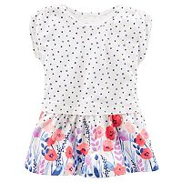 Toddler Girl OshKosh B'gosh® Polka-Dot Pattern & Floral Border Peplum Tunic