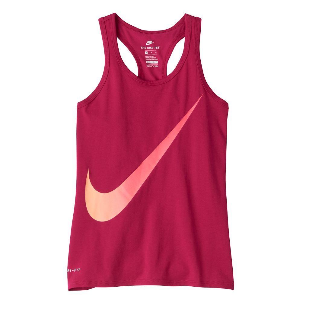 Girls 7-16 Nike Dri-FIT Ombre Swoosh Graphic Racerback Tank Top