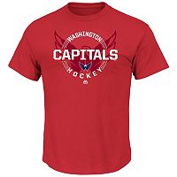 Men's Majestic Washington Capitals Clearing the Puck Tee