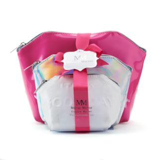 Mirror Mirror 3-pc. Cosmetic Bag Set