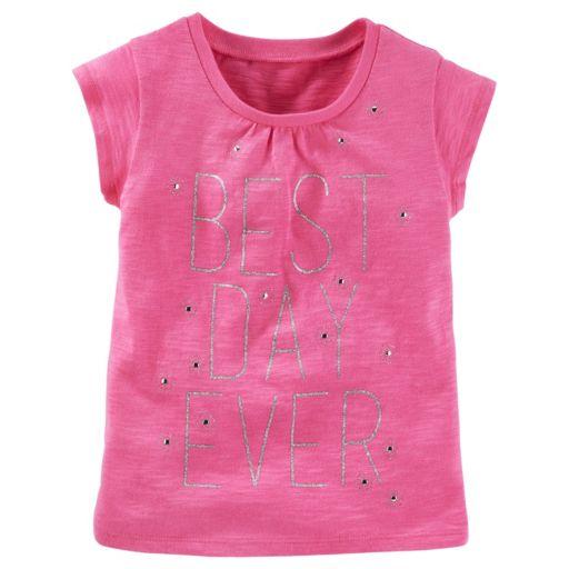 "Toddler Girl OshKosh B'gosh® ""Best Day Ever"" Sparkle Tee"