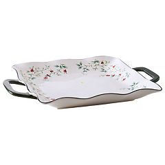 Pfaltzgraff Winterberry Square Serving Platter with Handles