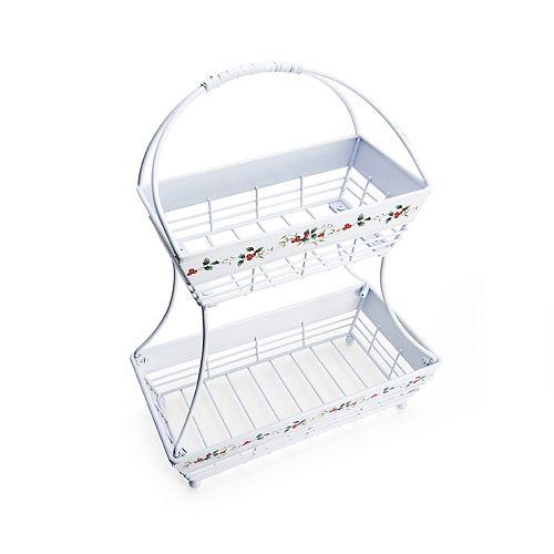 Pfaltzgraff Winterberry 2-Tier Basket