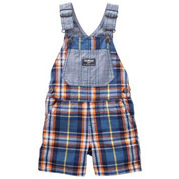 Baby Boy OshKosh B'gosh® Plaid Shortalls