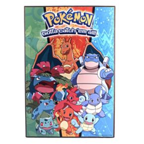 Pokémon Gotta Catch 'em All Characters Wood Wall Art