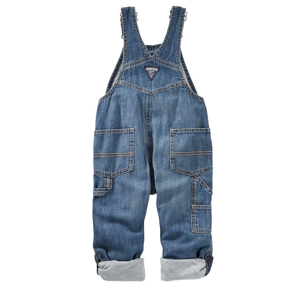 Toddler Boy OshKosh B'gosh® Roll-Tab Denim Overalls