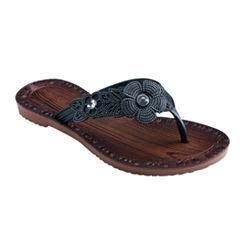 Girls 4-16 Faux Wood Etched Flip Flops