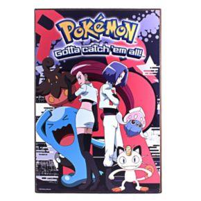 Pokémon Gotta Catch 'em All Team Rocket Wood Wall Art