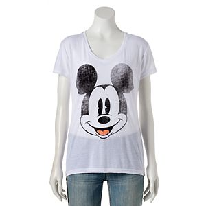 Disney' Juniors' Mickey Mouse High-Low Graphic Tee