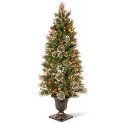 National Tree Company 5-ft. Pre-Lit Artificial Wintry Pine Porch Tree