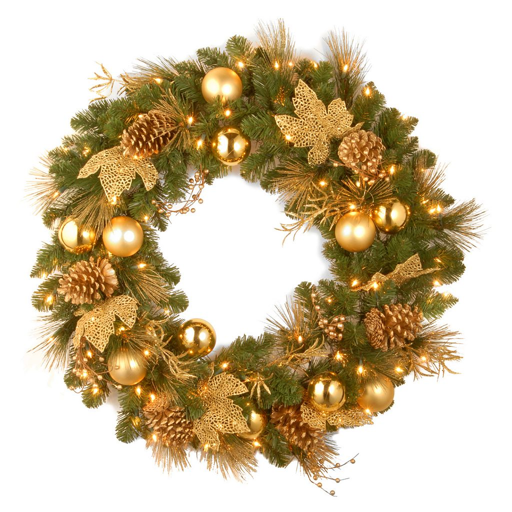 National Tree Company 36 in. Artificial Elegance Wreath