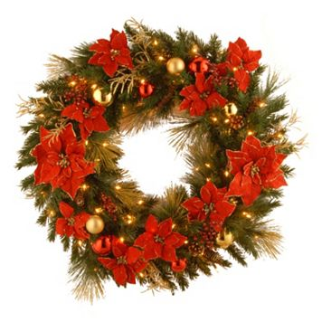 National Tree Company 36 in. Artificial Home Spun Christmas Wreath